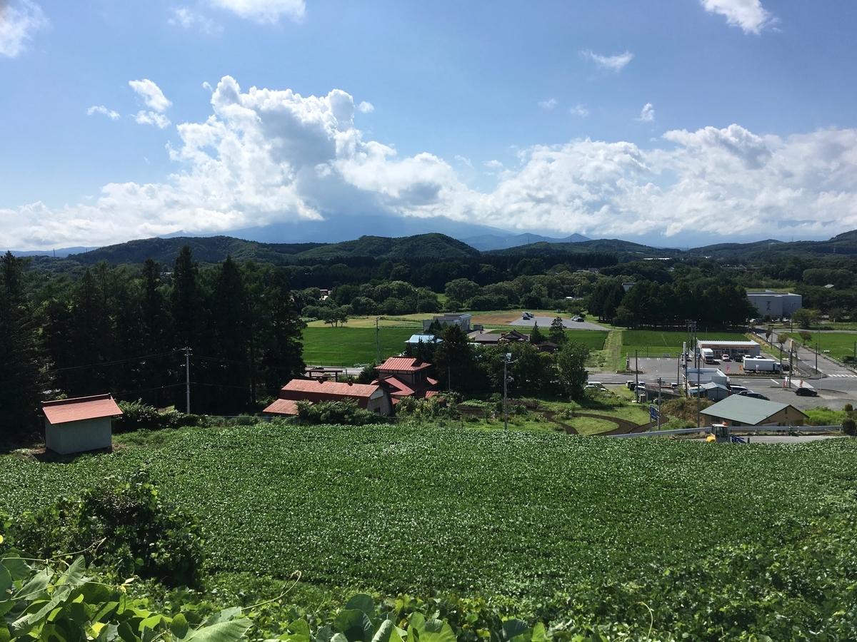 渋民村から望む岩手山