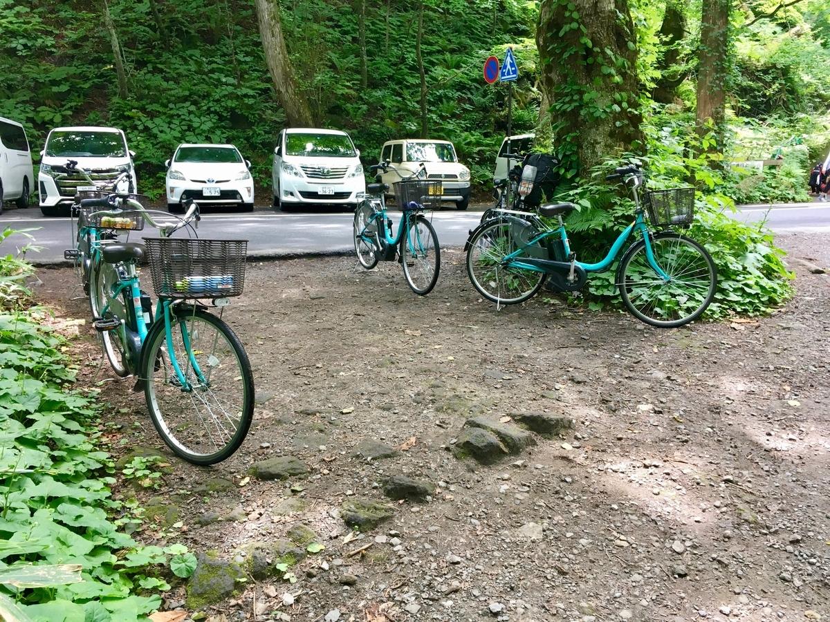 奥入瀬巡りに便利な貸し電動自転車