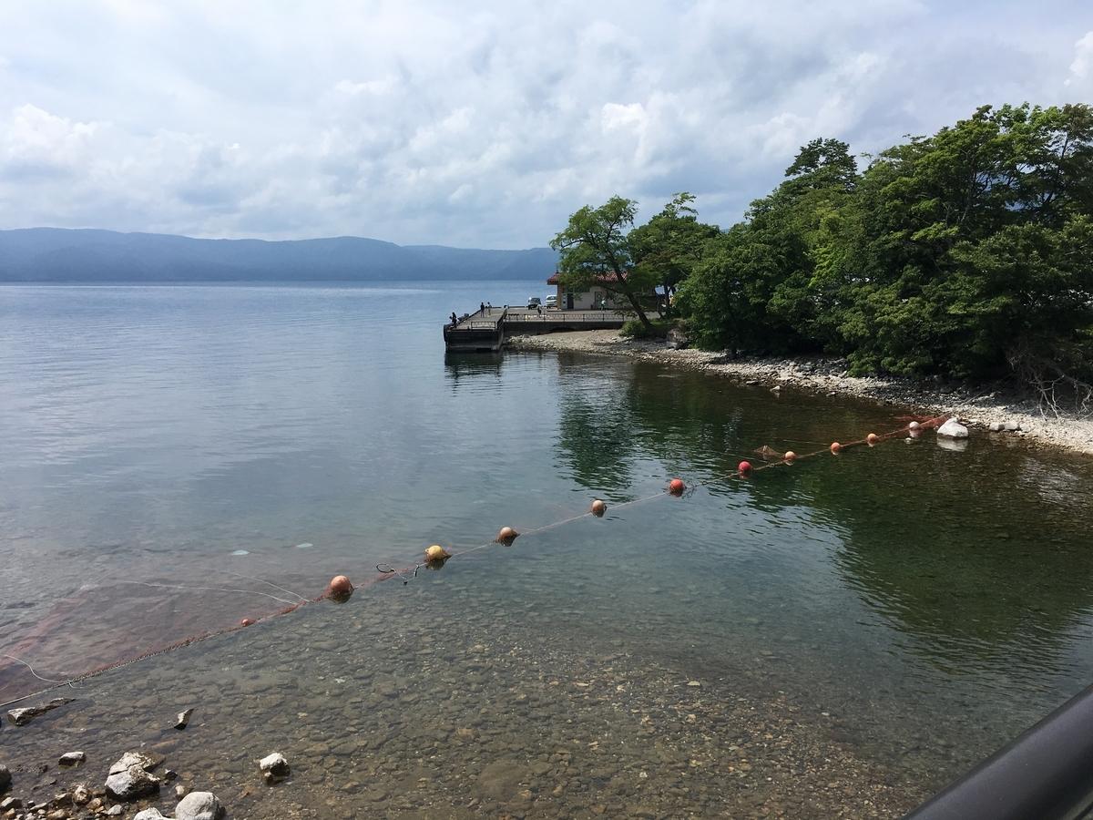 子ノ口から望む十和田湖