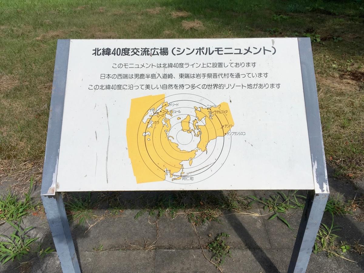 北緯40度交流広場(シンボルモニュメント)