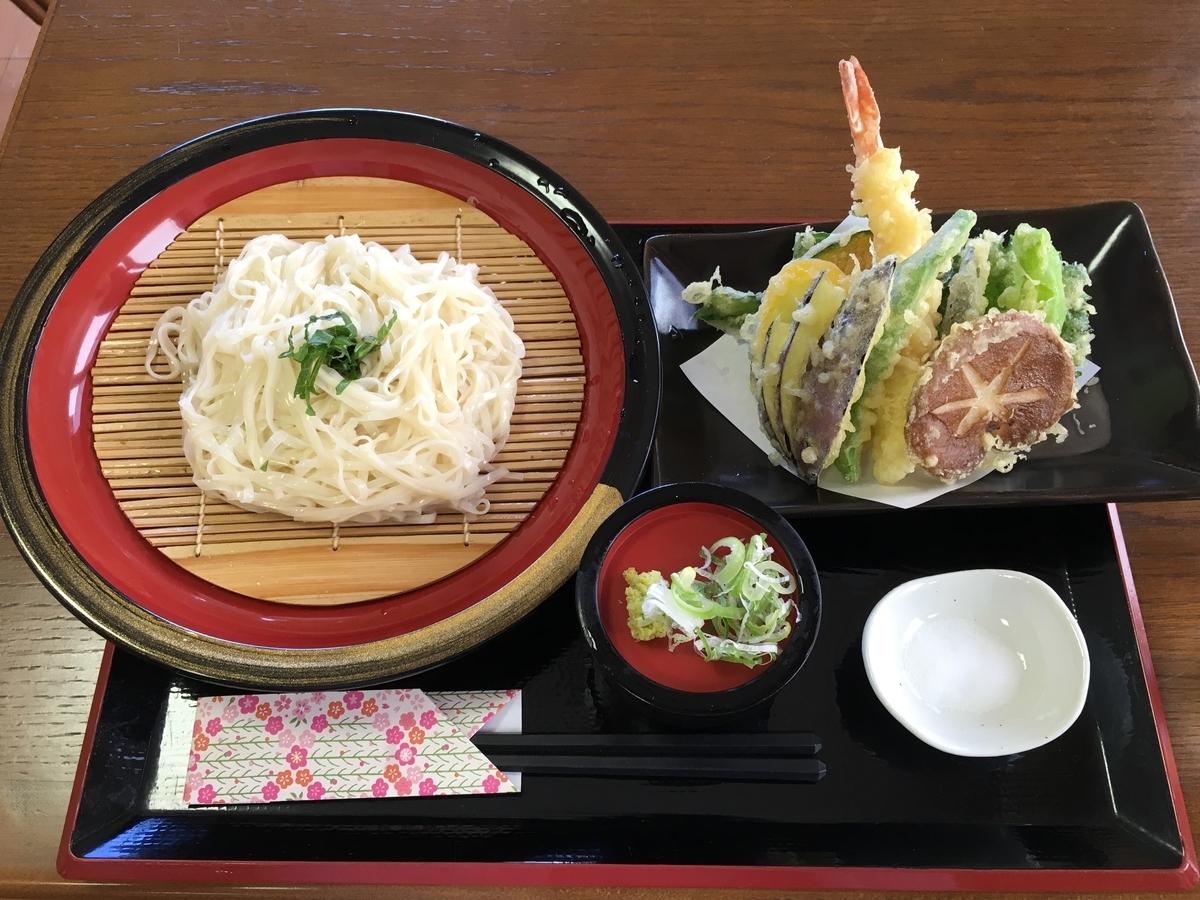 アルパこまくさの天ぷら稲庭ざるうどん