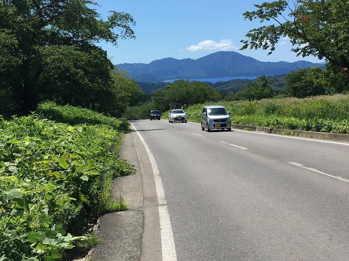 田沢湖高原を下り一路、田沢湖へ