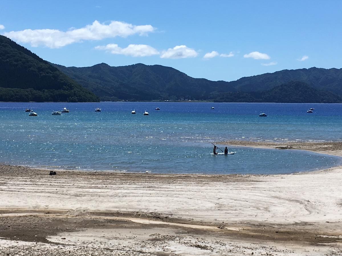 田沢湖のボート遊び