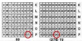 座席の位置を説明した画像