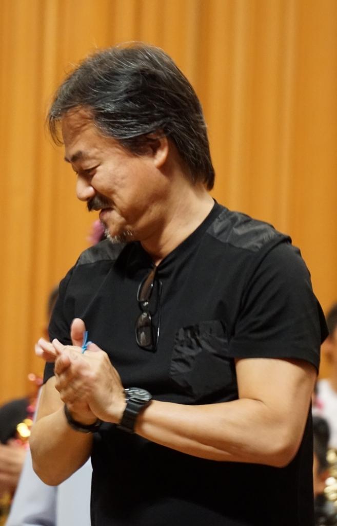 奈良公演で撮影した坂口博信さんの写真