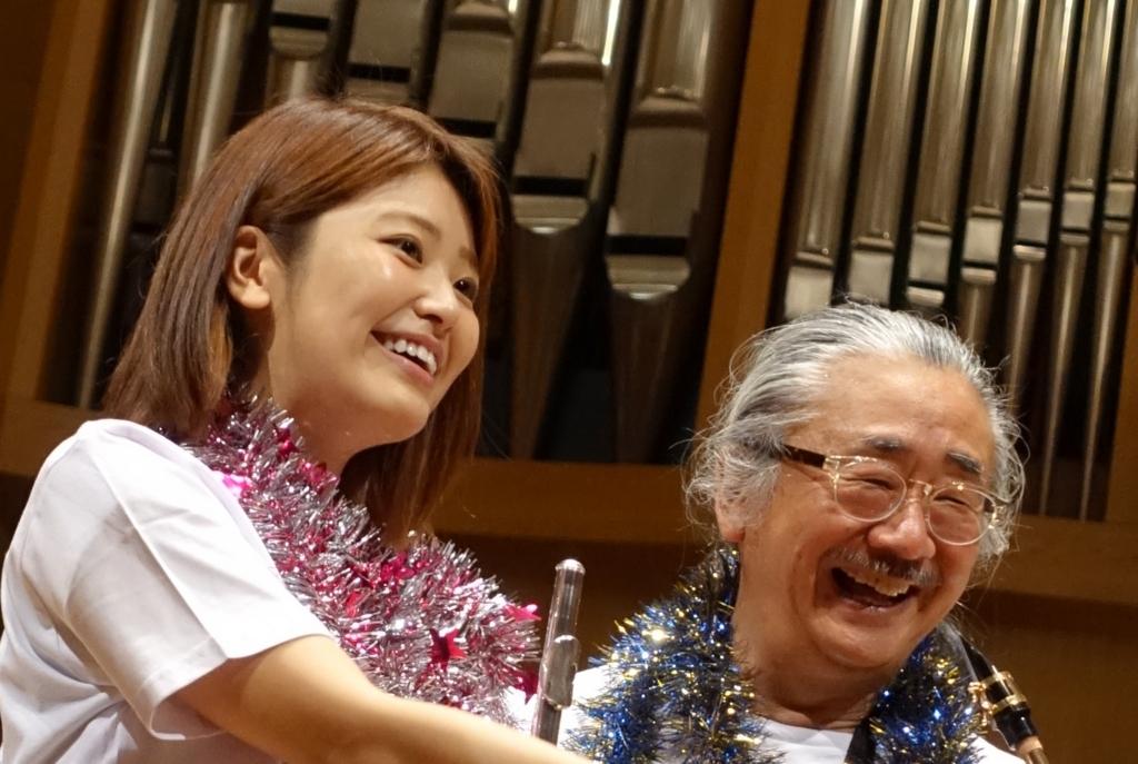 ノビヨ師匠とまみちゃんが写る写真