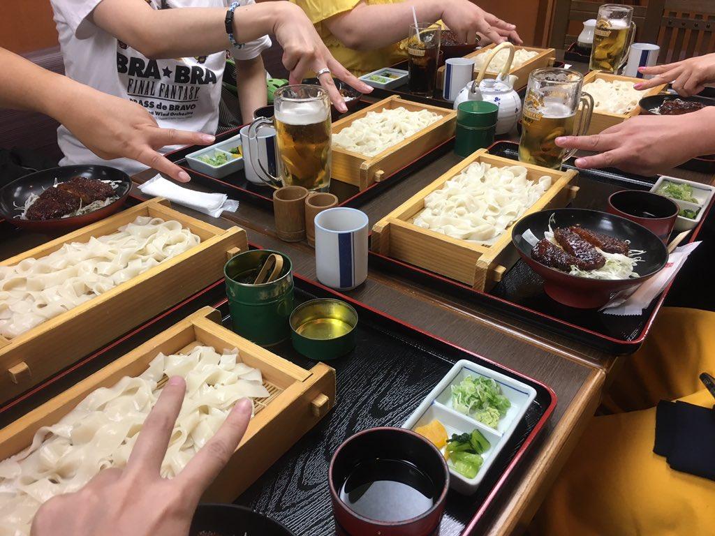 夕ご飯での集合写真