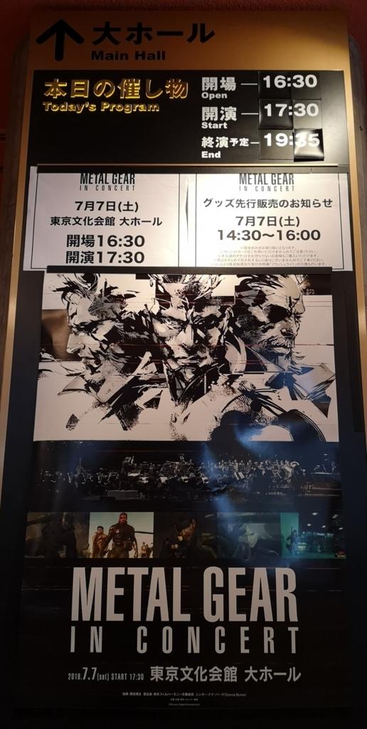 メタルギアinコンサートのポスター