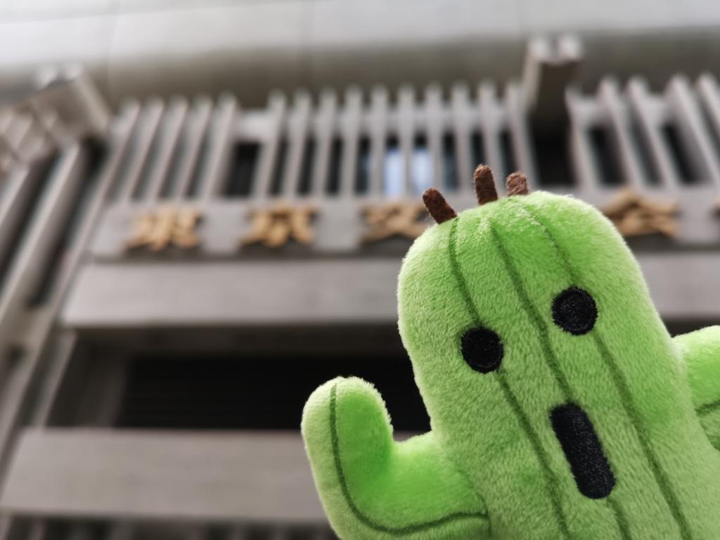東京文化会館前で撮影(昼)