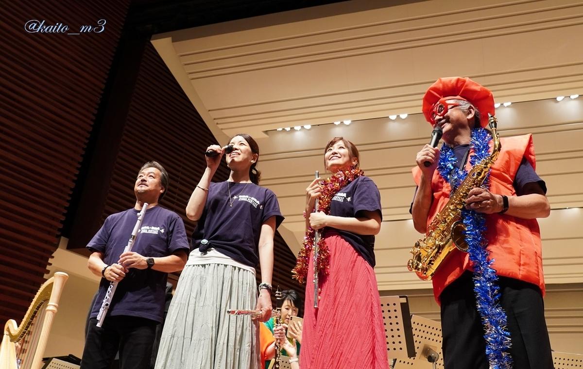 bra★braでの坂口博信さん、渋谷員子さん、山下まみさん、植松伸夫さん