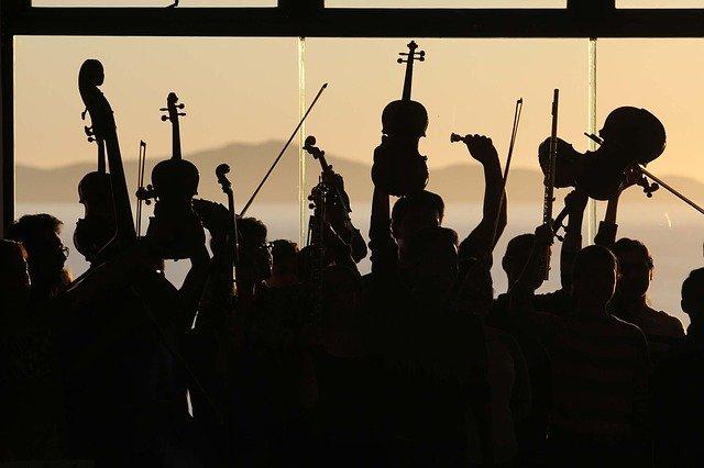 オーケストラコンサートでの写真