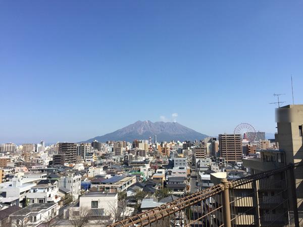 桜島を写した画像