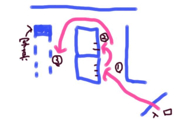 鹿児島谷山の交通安全教育センター内の地図
