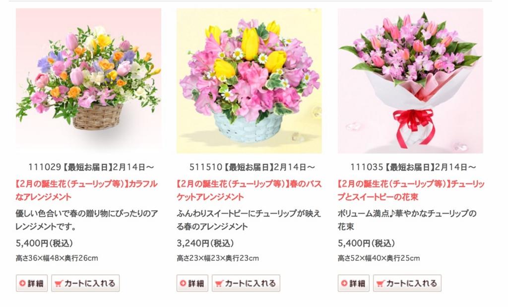 花キューピットの誕生花