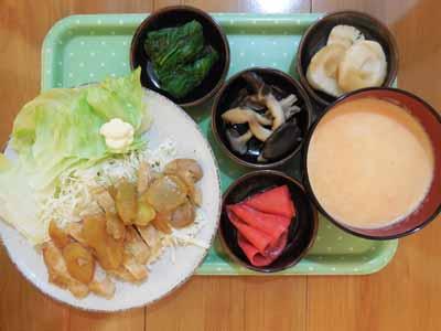 豚ロース肉の和風生姜ソテー