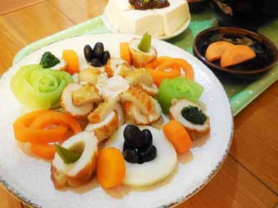 竹輪と野菜のオードブル風