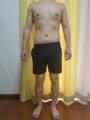 糖質制限ダイエット終了後体型変化写真10週目前