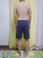 糖質制限ダイエット終了後体型変化写真11週目後ろ