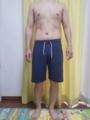 糖質制限ダイエット終了後体型変化写真11週目前
