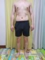 糖質制限ダイエット終了後体型変化写真12週目前