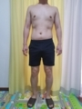 糖質制限ダイエット終了後体型変化写真14週目前