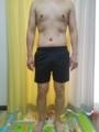 糖質制限ダイエット終了後体型変化写真16週目前