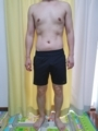 糖質制限ダイエット終了後体型変化写真19週目前