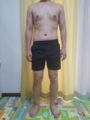 糖質制限ダイエット終了後体型変化写真21週目前