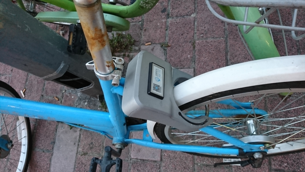 自転車のサドルのQR