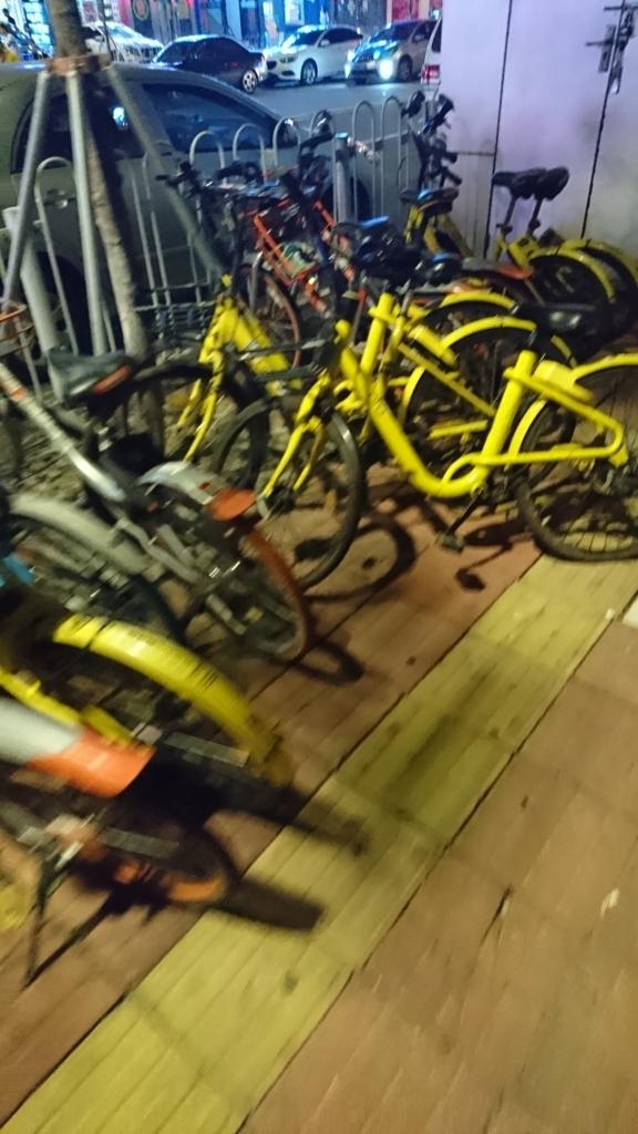 中国の放置された自転車