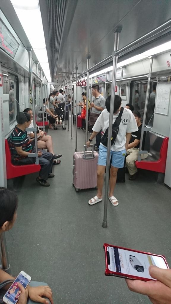 中国の電車内