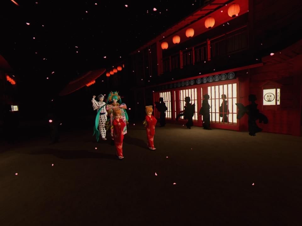 超歌舞伎VR~花街詞合鏡~第一場道中