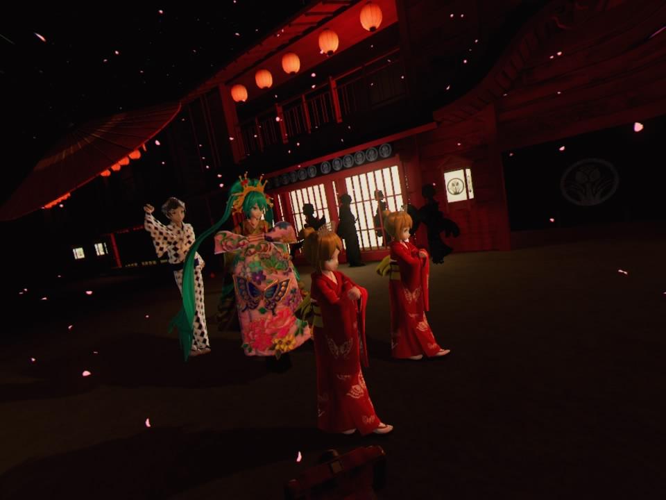 超歌舞伎VR~花街詞合鏡~第一場道中女の子