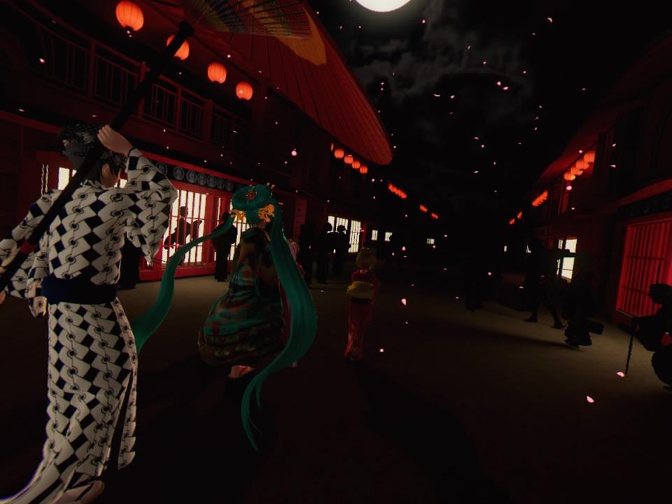 超歌舞伎VR~花街詞合鏡~第一場撮影3