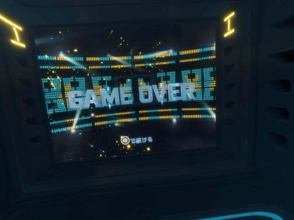 PlayStation VR WORLDSデンジャーボールプレイ終了