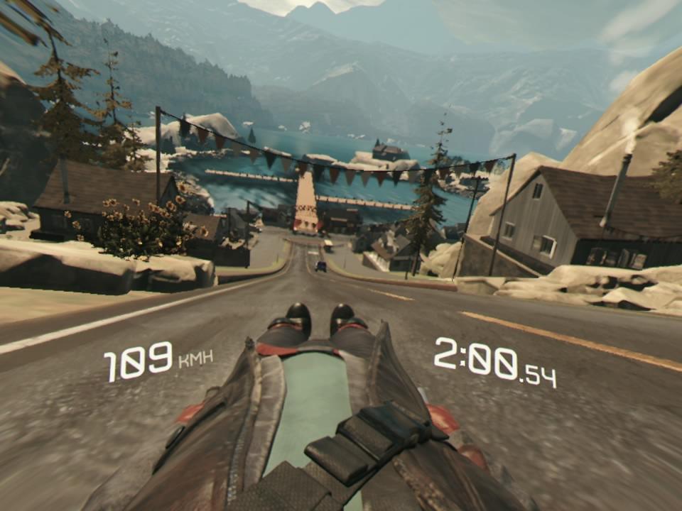 PlayStation VR WORLDSリュージュタイムアタック