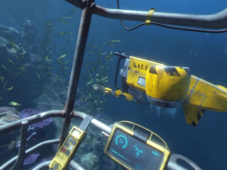 PlayStation VR WORLDSオーシャンディセント海の中