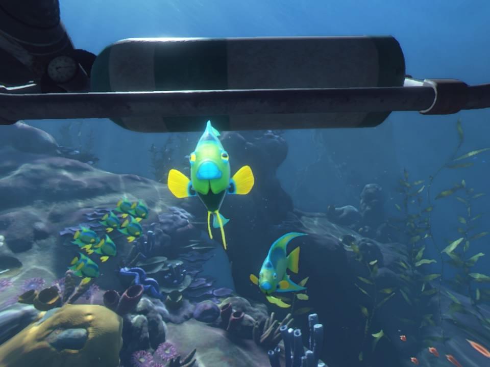 PlayStation VR WORLDSオーシャンディセント魚正面