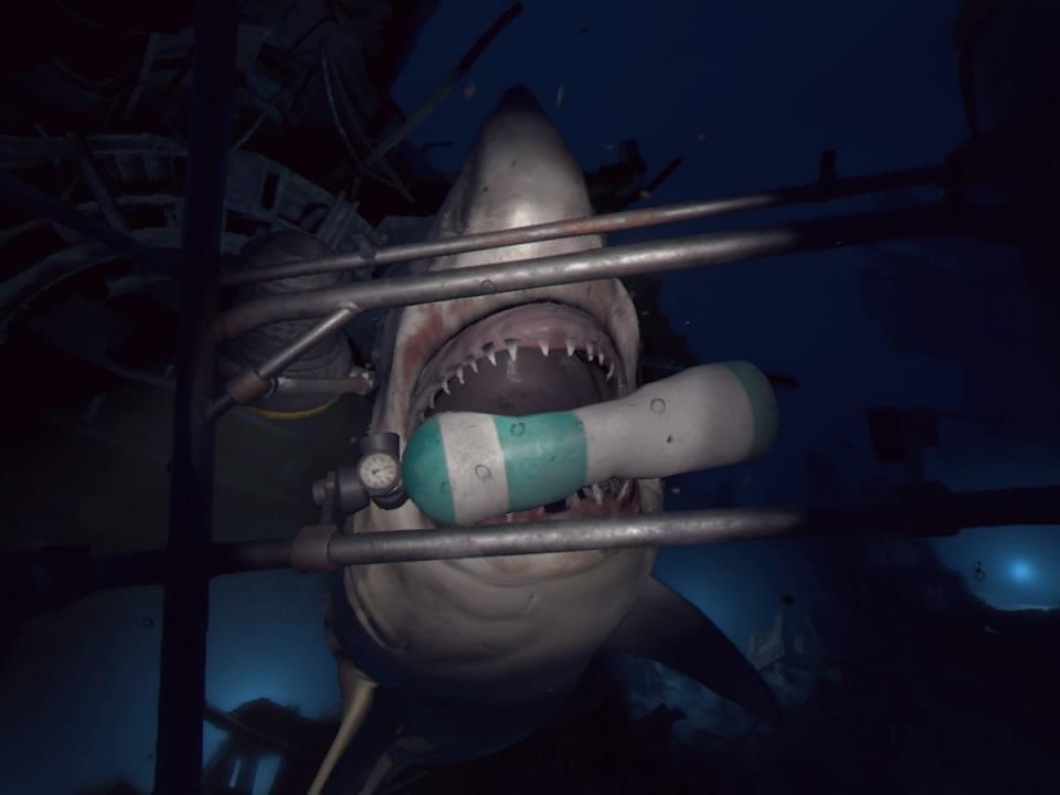 PlayStation VR WORLDSオーシャンディセントサメ噛み