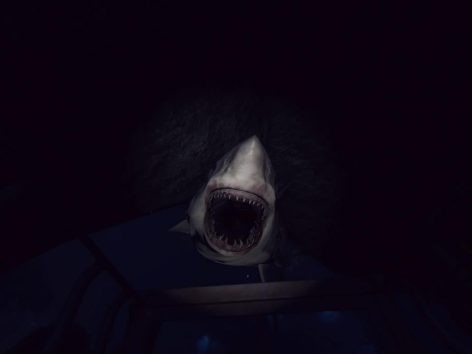 PlayStation VR WORLDSオーシャンディセントサメ噛み付き