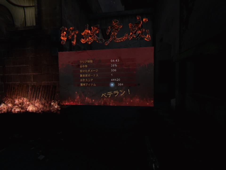 The Walkerクリア画面
