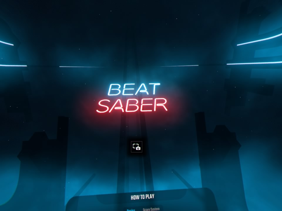 Beat Saber トップ画面