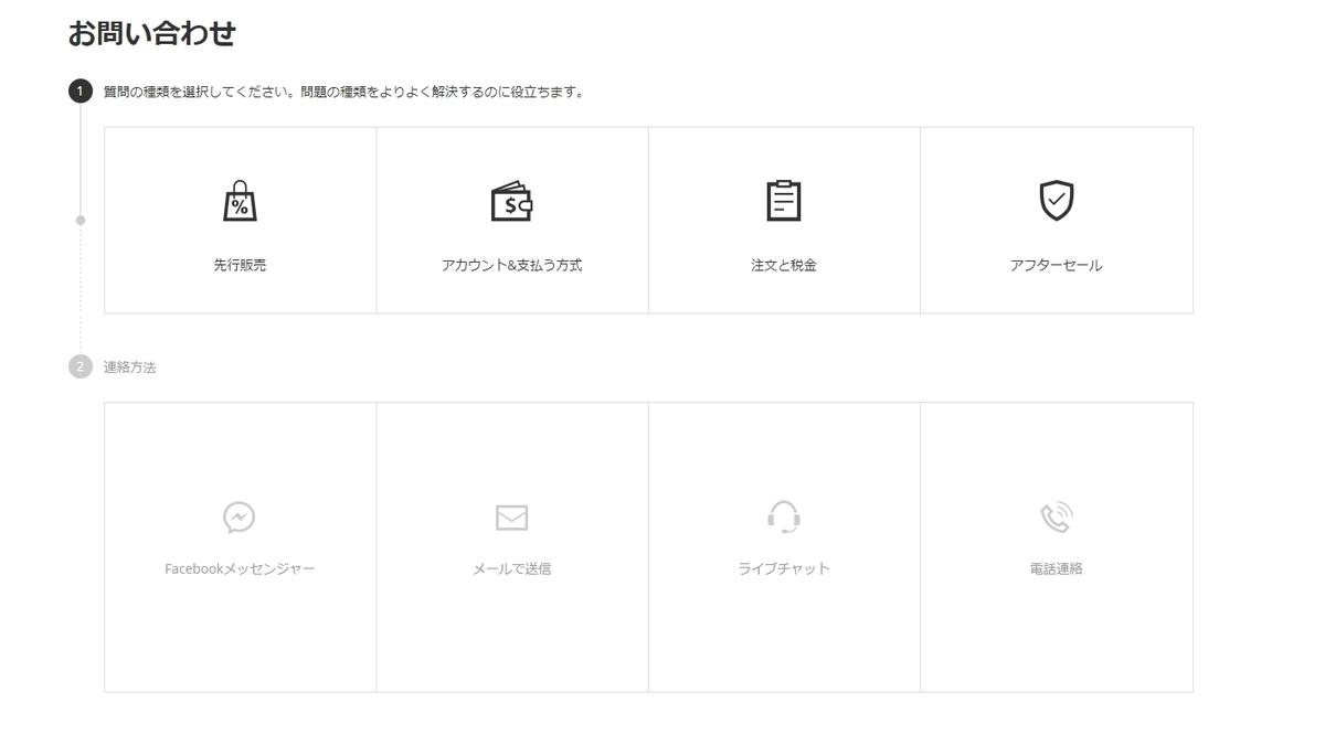 Banggoodのサポートセンター画面