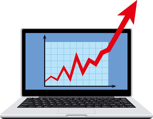 急騰する株価
