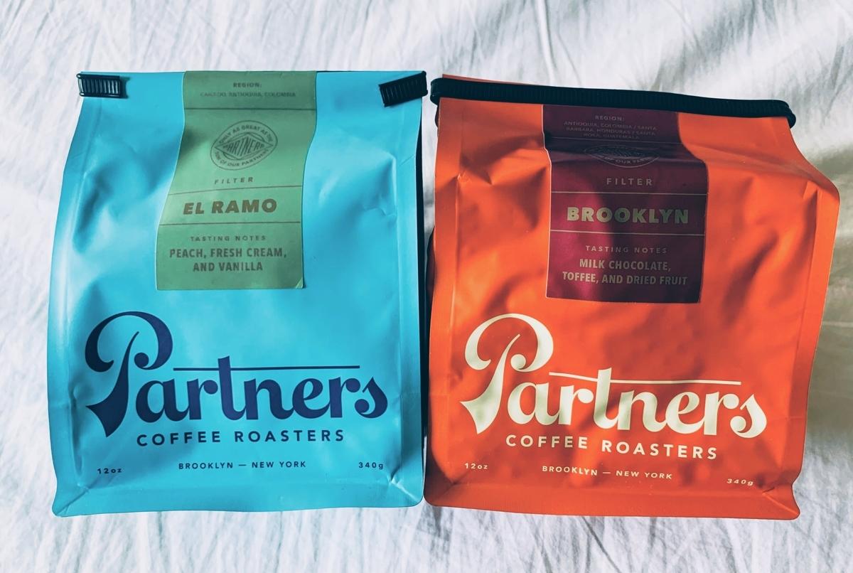 パートナーズコーヒーのコーヒー豆パッケージ