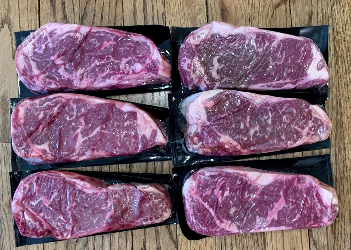 クリークストーン:ステーキ肉6枚