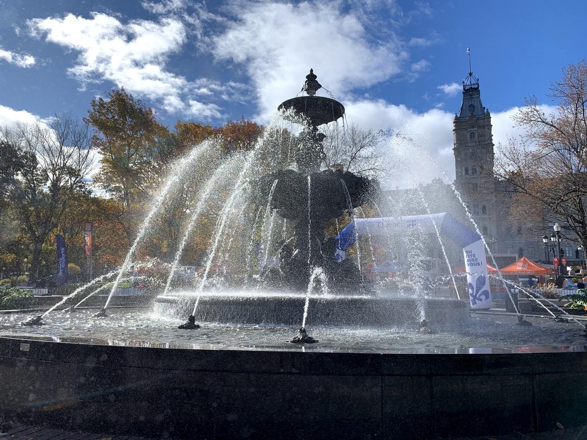 ケベック:トッケビの噴水