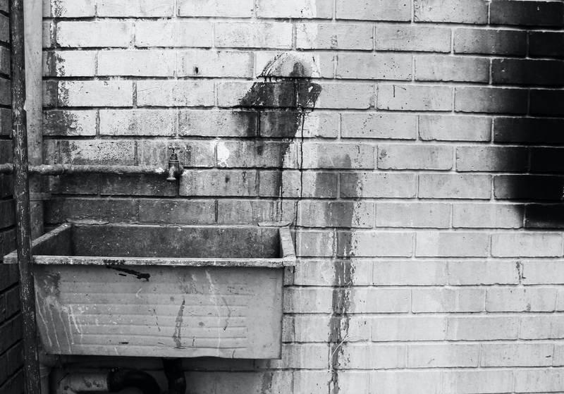 汚れた壁の写真