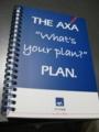 FPフェアでもらったAXAのノートで勉強。