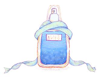 香水のイラスト青